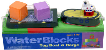 Bath Blocks: Tug Boat & Barge Set