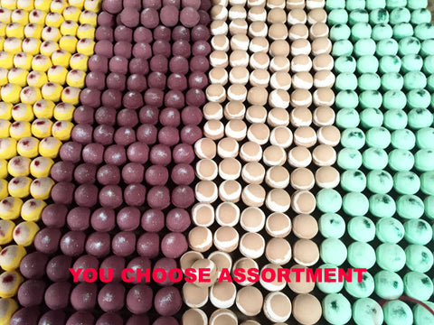 assortment of 3,000 bath bombs