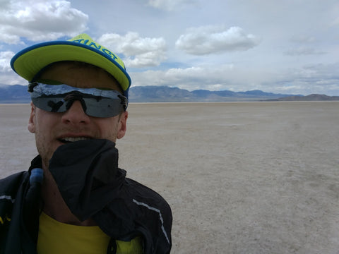 Adam Harmon at the Salt Flats 100