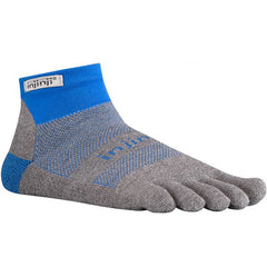 Injinji Run 2.0 Original Weight Mini Crew Toe Socks - Rocky Mountain Ultra - 1