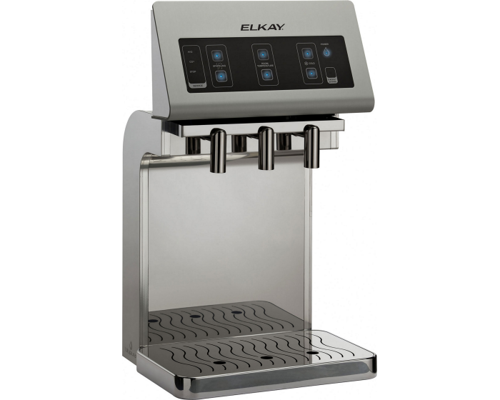 Elkay DSFB1UVK | Fontemagna Bridge Countertop Water Dispenser | Filtered, Stainless Steel (To be used along a DSFBF180K) - BottleFillingStations.com