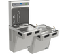 Elkay EMABFTL8WSLK | Wall-mount Bi-level Bottle Filling Station | Filterless, Refrigerated, EMAB-style fountain, Granite Gray - BottleFillingStations.com