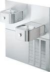 Elkay ERFPM28K | In-wall Bi-level Soft-sides Drinking Fountain | Filterless, Refrigerated, Stainless Steel - BottleFillingStations.com