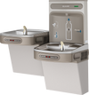 EZOOTL8WSLK | Wall-mount Bi-level Bottle Filling Station | Filterless, Refrigerated, EZ-style fountain, Hands-free (dual), Granite Gray