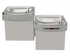 Elkay EZOSTL8LC | Wall-mount EZ-style Bi-level Drinking Fountain | Filterless, Refrigerated, Hands-free, Granite Gray - BottleFillingStations.com
