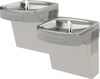 Elkay EZSTL8LC | Wall-mount Versatile Bi-Level Drinking Fountain | Filterless, Refrigerated, EZ-style, Granite Gray - BottleFillingStations.com