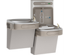 Elkay EZSTL8WSLK | Wall-mount Versatile Bi-Level Bottle Filling Station | Filterless, Refrigerated, EZ-style fountains, Granite Gray - BottleFillingStations.com