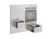 Elkay EZWS-EDFP217K | In-wall Bi-Level Bottle Filling Station | Filterless, Non-refrigerated, Soft-sides fountains, Stainless Steel - BottleFillingStations.com