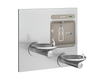 Elkay EZWS-EDFPBM117K | In-wall Bi-Level Bottle Filling Station | Filterless, Non-refrigerated, SwirlFlo fountains, Stainless Steel (Comes with Mounting frame) - BottleFillingStations.com