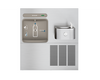 Elkay EZWS-ERFP8-RF | In-wall Retrofit Bottle Filling Station | Filterless, Refrigerated, For use with Soft-sides fountains, Stainless Steel
