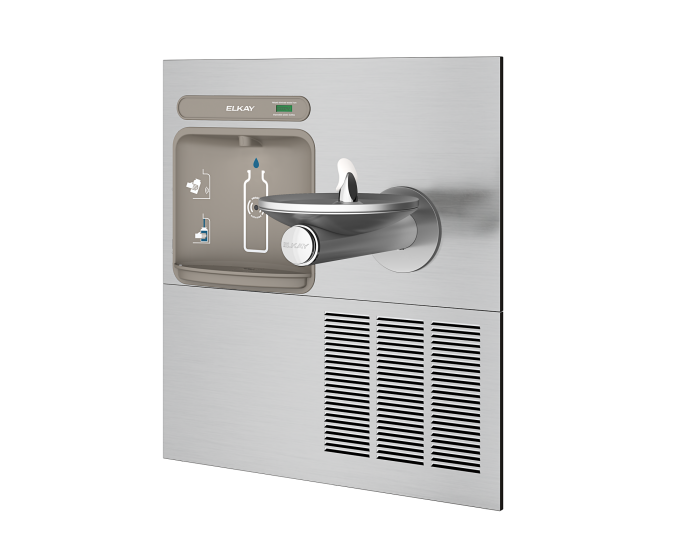 Elkay EZWS-ERPB8-RF  | In-wall Retrofit Bottle Filling Station | Filterless, Refrigerated, For use with SwirlFlo fountains, Stainless Steel - BottleFillingStations.com
