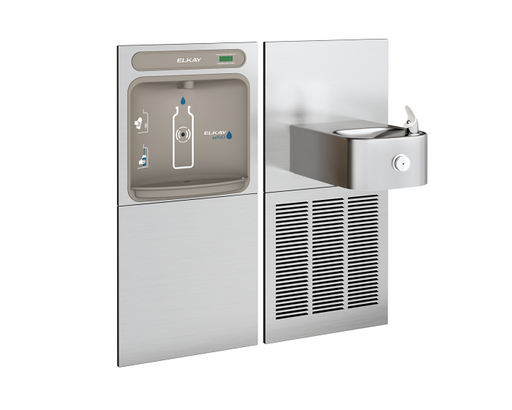 Elkay Bi-Level Bottle Filler | EZWS-SS8K Filterless - BottleFillingStations.com