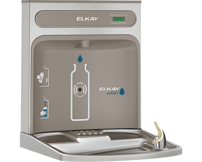 Elkay EZWSRK | Retrofit Bottle Filler Kit | Filterless, Stainless Steel, For use with EZ-style fountains