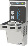 Halsey Taylor HTHB-HAC8SS-NF | Wall-mount Bottle Filling Station | Filterless, Refrigerated, EMAB-style fountain, Granite Gray