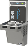 Halsey Taylor HTHB-HACDPV-WF | Wall-mounted Bottle Filling Station | Filtered, Non-refrigerated, HAC-style fountains, Platinum Vinyl color finish