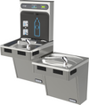 Halsey Taylor HTHB-HACG8BLPV-NF | Wall-mounted Bi-Level Bottle Filling Station | Filterless, High-efficiency chiller, HAC-style fountains, Platinum Vinyl color finish
