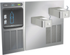Halsey Taylor HTHB-HRFSER | In-wall Bi-level Bottle Filling Station | Filterless, Refrigerated, Contour drinking fountains, Stainless Steel color finish