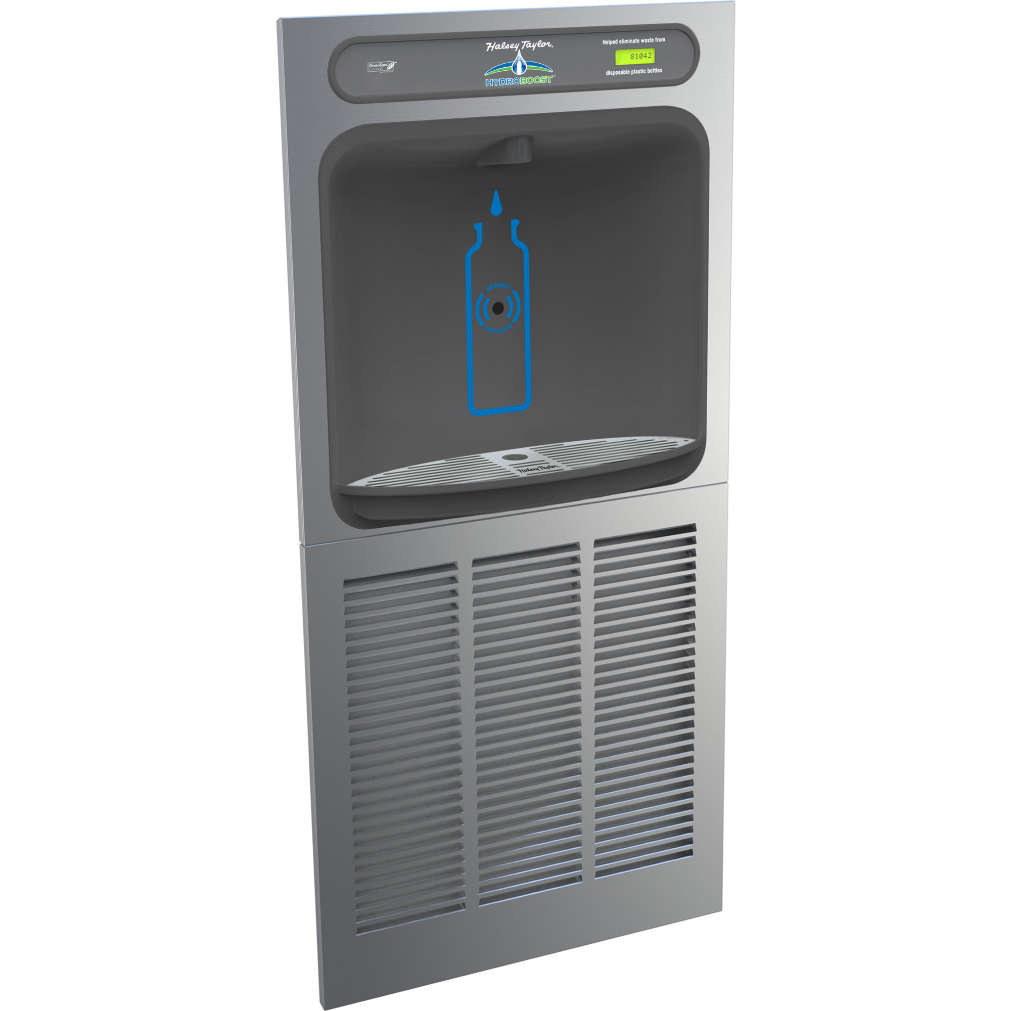 Halsey Taylor HTHBGRN8-NF | In-wall Bottle Filler | Filterless, High-efficiency chiller, Hands-free (comes with Mounting Frame)