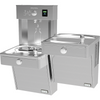 Halsey Taylor HTHBHVRBLR-NF | Wall-mounted Bi-level Bottle Filling Station | Filterless, Non-refrigerated, Vandal-resistant, Reverse fountains, Stainless Steel color finish