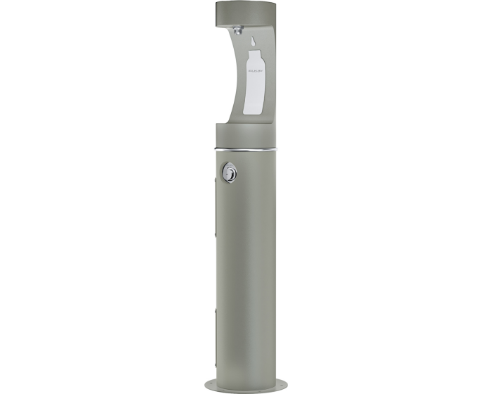 Elkay LK4400BFFRK | Outdoor Bottle Filling Station, SINGLE PEDESTAL FREEZE-RESISTANT - BottleFillingStations.com