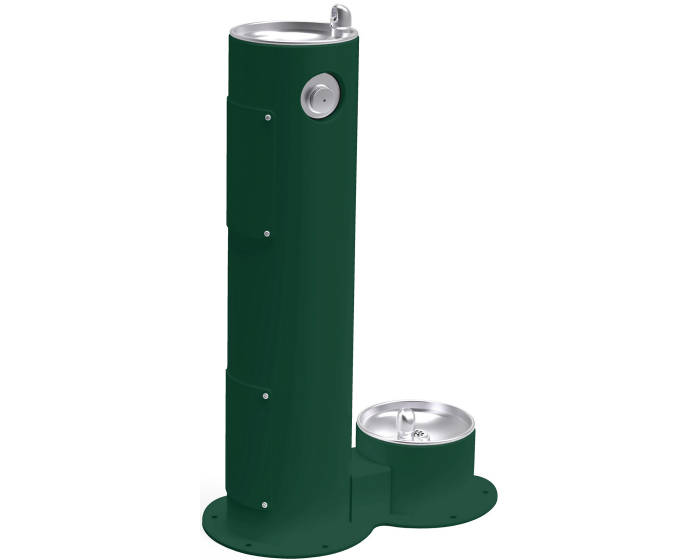 Elkay LK4400DB | Freestanding Drinking Fountain | Filterless, Non-refrigerated, Includes a Dog-bowl / Pet fountain - BottleFillingStations.com