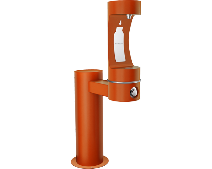 Elkay LK4410BF | Outdoor Bottle Filling Station, SINGLE PEDESTAL ARM - BottleFillingStations.com