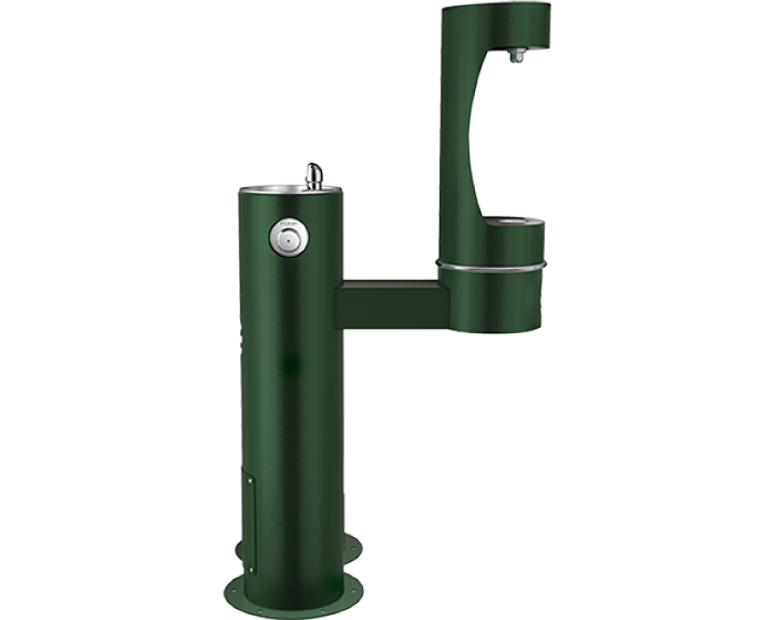 Elkay LK4420BF1LDBFRK | Freestanding Bottle Filling Station | Filterless, Non-refrigerated, Freeze-resistant, Includes a Dog-bowl / Pet fountain - BottleFillingStations.com
