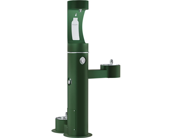 Elkay LK4420BF1UDBFRK | Freestanding Bottle Filling Station | Filterless, Non-refrigerated, Freeze-resistant, Includes a Dog-bowl / Pet fountain - BottleFillingStations.com