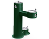 Elkay LK4420DBFRK | Freestanding Bi-level Drinking Fountain | Filterless, Non-refrigerated, Freeze-resistant, Includes a Dog-bowl / Pet fountain