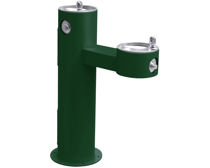 Elkay LK4420FRK | Outdoor Freestanding Bi-Level Drinking Fountain | Filterless, Non-Refrigerated, Freeze Resistant