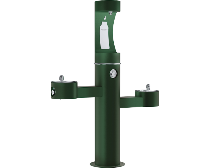 Elkay LK4430BF1UFRK | Freestanding Bi-level Bottle Filling Station | Filterless, Non-refrigerated, Freeze-resistant
