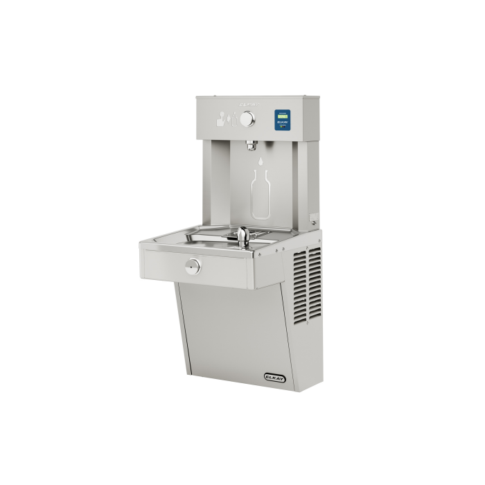 Elkay LVRC8WSK | Wall-mount Bottle Filling Station | Filtered, Refrigerated, VRC-style fountain, Fully Vandal-resistant - BottleFillingStations.com