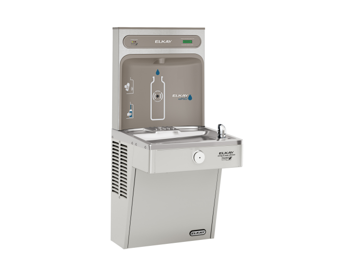 Elkay LVRCGRN8WSK | Wall-mount Bottle Filling Station | Filtered, High-efficiency chiller, VRC-style fountain - BottleFillingStations.com