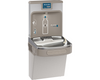 Elkay LZS8WSLP | Wall-mount Enhanced EZH2o Bottle Filling Station | Filtered, Refrigerated, EZ-style fountain, Granite Gray - BottleFillingStations.com