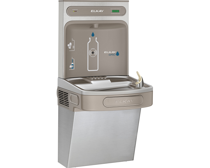 Elkay LZS8WSSK | Wall-mount Bottle Filling Station | Filtered, Refrigerated, EZ-style fountain, Stainless Steel - BottleFillingStations.com
