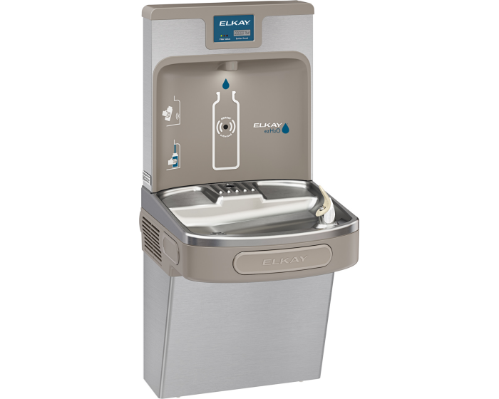Elkay LZS8WS | Wall-mount Enhanced EZH2o Bottle Filling Station | Filtered, Refrigerated, EZ-style fountain - BottleFillingStations.com