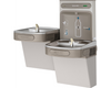 Elkay LZSTL8WSLK | Wall-mount Bi-level Bottle Filling Station | Filtered, Refrigerated, EZ-style fountain, Granite Gray - BottleFillingStations.com