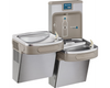 Elkay LZSTL8WSSP |  Wall-mount Enhanced EZH2o Versatile Bi-level Bottle Filling Station | Filtered, Refrigerated, EZ-style fountains, Stainless Steel - BottleFillingStations.com