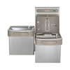 Elkay LZSTLDDWSVRSK | Wall-mount Versatile Bi-Level Bottle Filling Station | Filtered, Non-refrigerated, EZ-style fountain, Vandal-resistant bubbler, Stainless Steel - BottleFillingStations.com