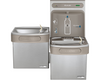 Elkay LZSTLG8WSSK | Wall-mount Versatile Bi-level Bottle Filling Station | Filtered, High-efficiency chiller, EZ-style fountains, Stainless Steel - BottleFillingStations.com