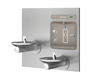 Elkay LZWS-EDFPBM117K |  In-wall Bi-level Bottle Filling Station | Filtered, Non-Refrigerated, SwirlFlo fountain - BottleFillingStations.com