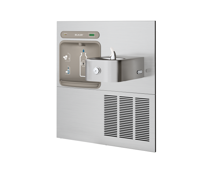 Elkay LZWS-ERFP8-RF | In-wall Retrofit Bottle Filler | Filtered, Refrigerated (For use with Elkay bi-level refrigerated Soft-sides fountains) - BottleFillingStations.com