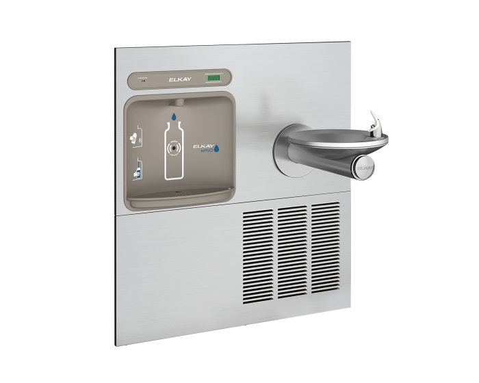Elkay LZWS-ERPB8-RF| In-wall Retrofit Bottle Filler | Filtered, Refrigerated (For use with Elkay bi-level refrigerated SwirfFlo fountains) - BottleFillingStations.com