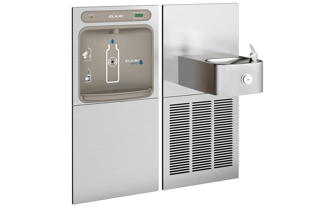 Elkay Bi-Level Bottle Filler | LZWS-SS8K Filtered - BottleFillingStations.com