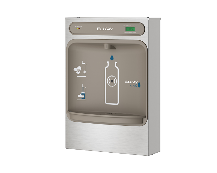 Elkay LZWSSM | Surface Mount Bottle Filler | Filtered, Non-refrigerated, Hands-free - BottleFillingStations.com