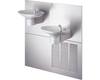 Halsey Taylor OVL-II-SER | Wall-mounted Bi-level OVL-style Drinking Fountain | Filterless, Refrigerated, Stainless Steel color finish - BottleFillingStations.com
