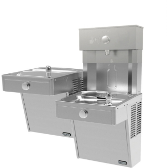 Elkay VRCTLWSX | Fully Mechanical Bottle Filling Station, Bi-level, Filterless, Vandal-resistant - BottleFillingStations.com