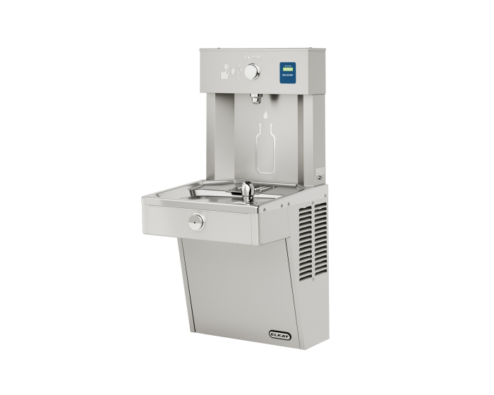 Elkay VRC8WSK | Wall-mount Bottle Filling Station | Filterless, Refrigerated, VRC-style fountain, Fully Vandal-resistant - BottleFillingStations.com
