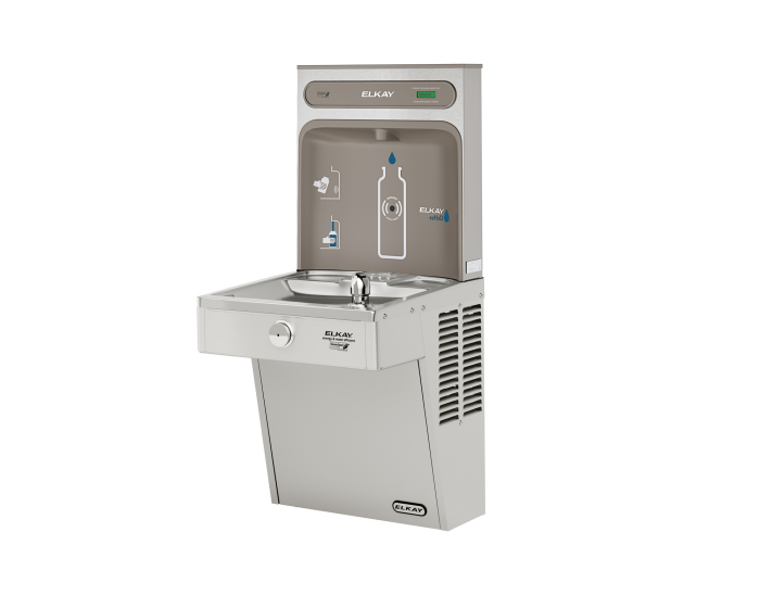 Elkay VRCGRN8WSK | Wall-mount Bottle Filling Station | Filterless, High-efficiency chiller, VRC-style Fountains, Vandal-resistant Fountains - BottleFillingStations.com