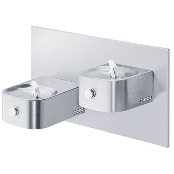 Elkay EDFP217RAC | Bi-Level In-Wall Soft-sides Drinking Fountain | Filterless, Non-refrigerated, Stainless Steel - BottleFillingStations.com